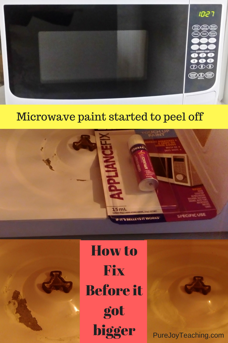 microwave paint peeling off fix microwave pure joy teaching. Black Bedroom Furniture Sets. Home Design Ideas